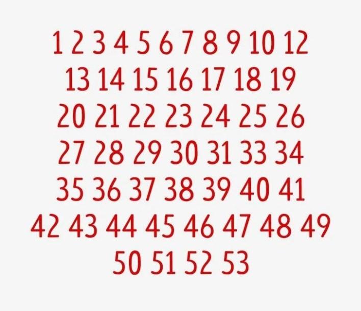 Dikkat testi: Kayıp rakam hangisi? - 70