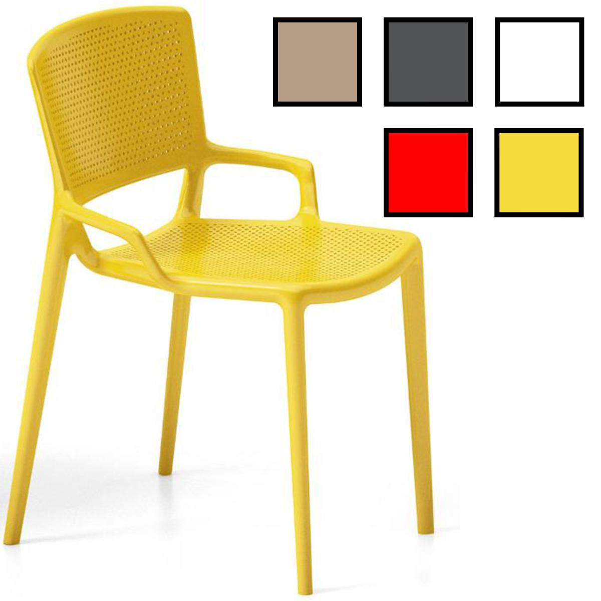 gimpo chaise de reunion design sans accoudoirs jaune