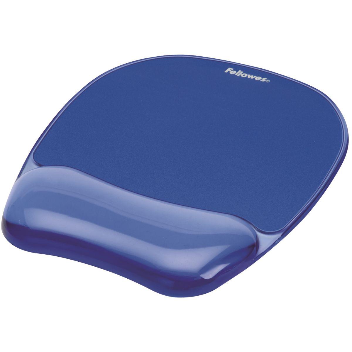 crystal tapis de souris bleu avec repose poignets