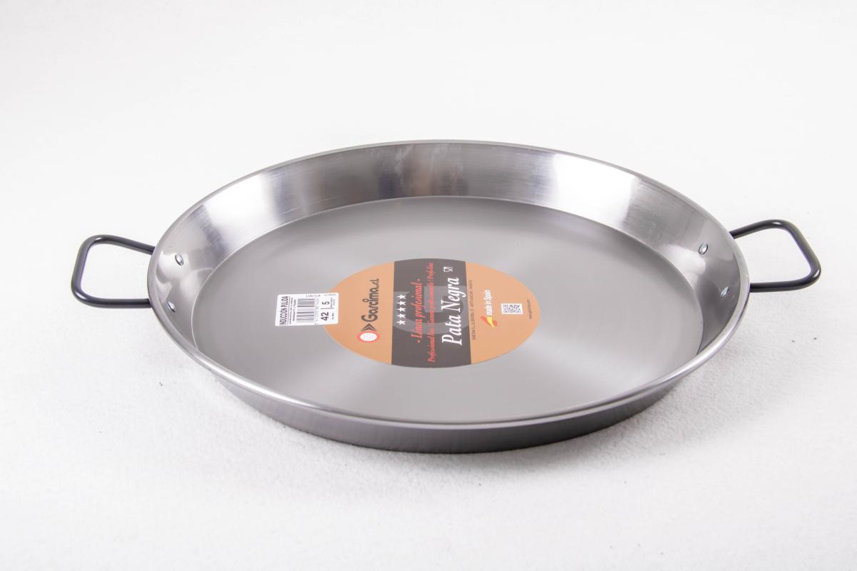 poele a paella acier poli pour induction 38 cm