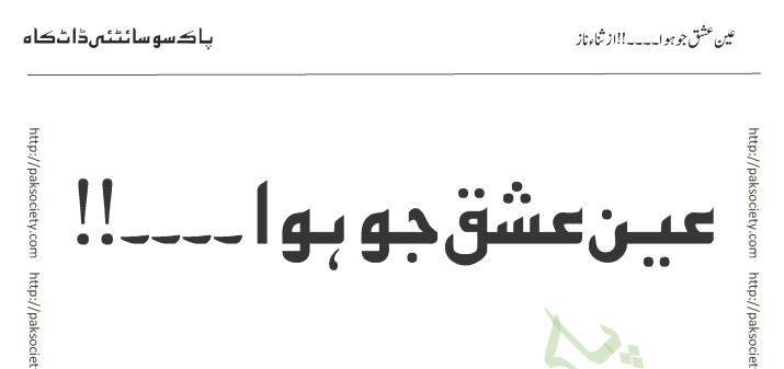 Ain Ishaq Jo Hua Sana Naaz