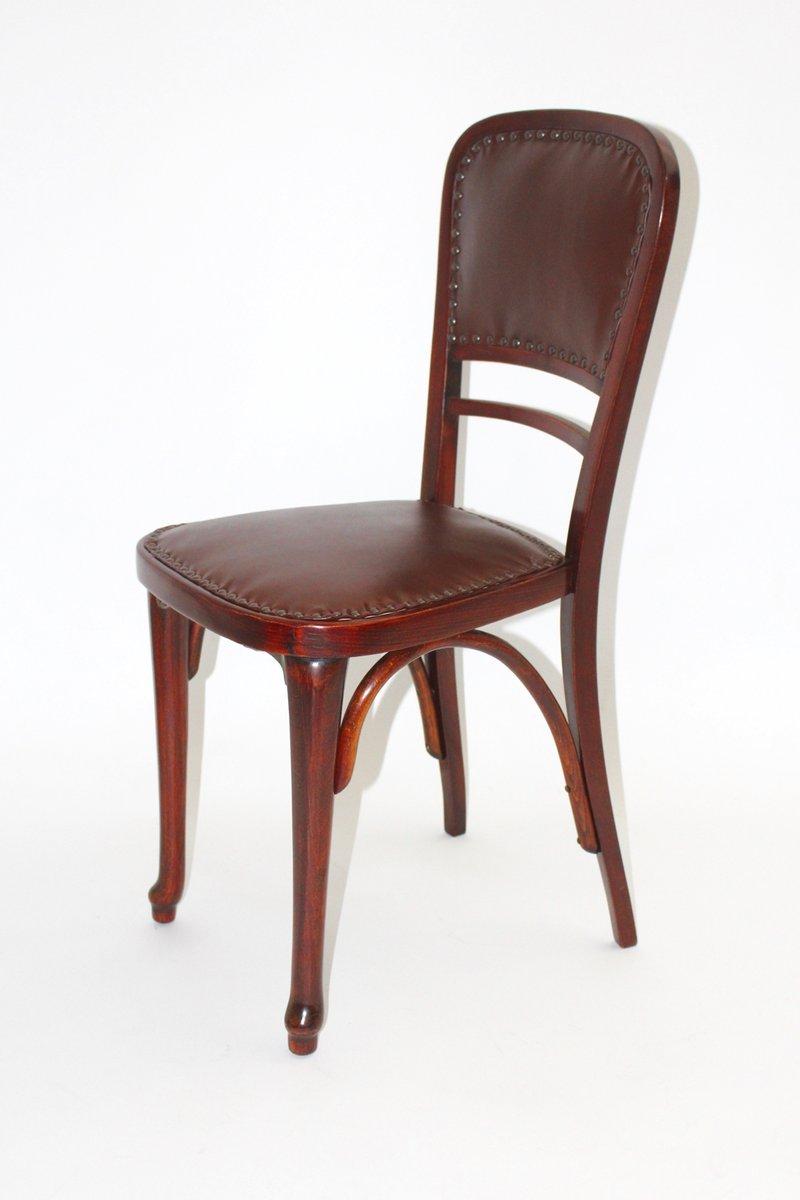 Österreichischer Modell Nr. 491 Stuhl aus Buche & Leder ...