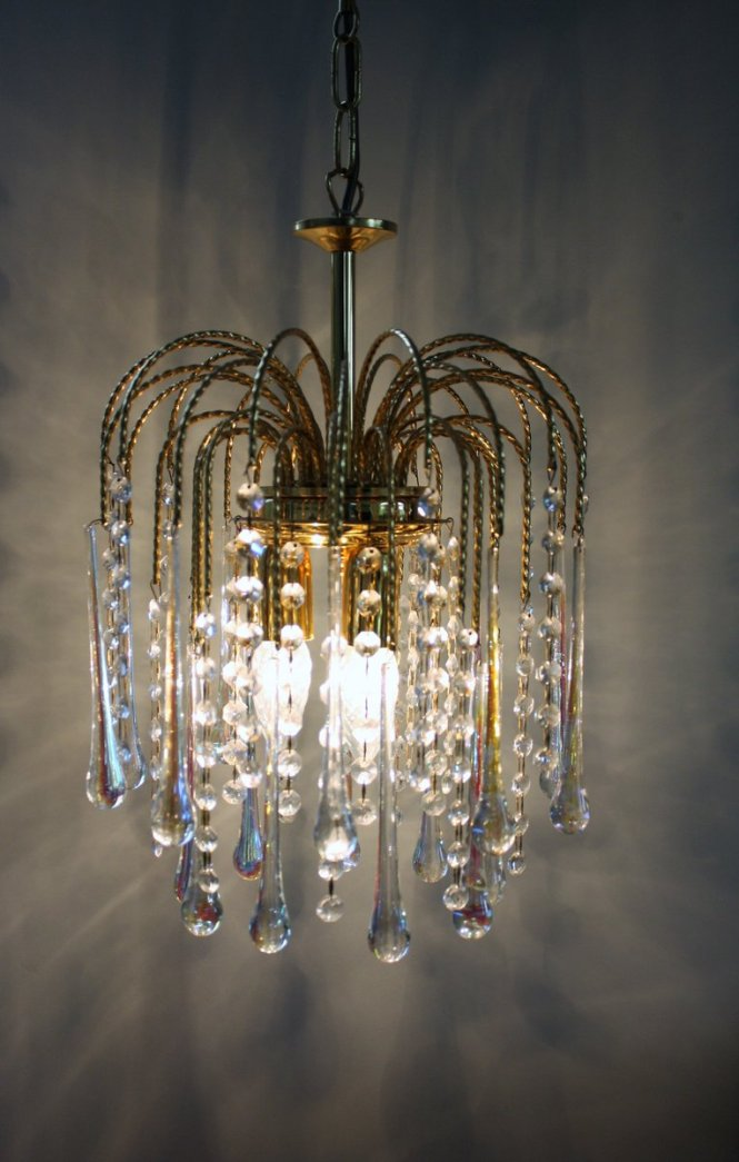 Vintage Crystal Murano Glass Teardrop Chandelier 1960s For At Pamono