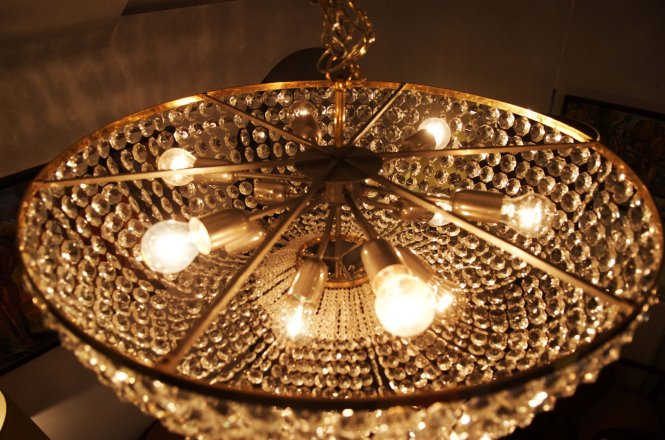 Crystal Basket 8 Light Chandelier Musethecollective