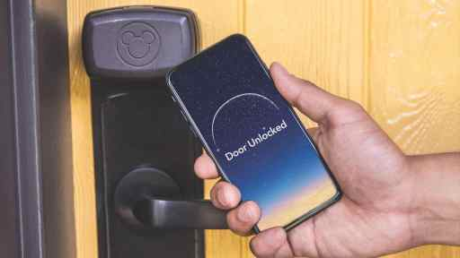 Unlock you Walt Disney World Resort hotel room with your phone
