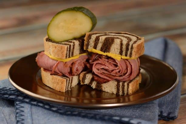 Pastrami on Rye from L'Chaim! Holiday Kitchen at Epcot International Festival of the Holidays