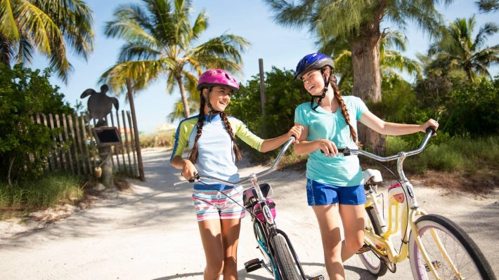 Kids Riding Bikes on Castaway CAy