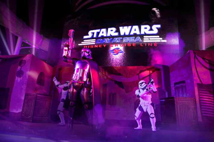 'Summon the Force' deck party, part of Star Wars Day at Sea