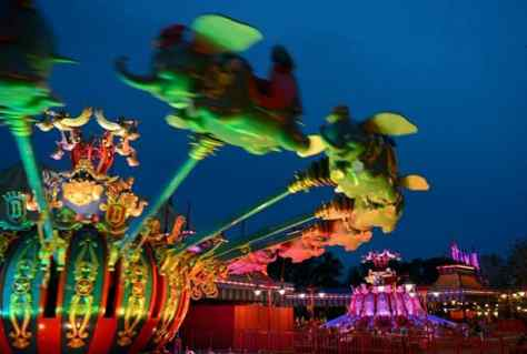 Dumbo the Flying Elephant attraction at Magic Kingdom Park at Walt Disney World Resort