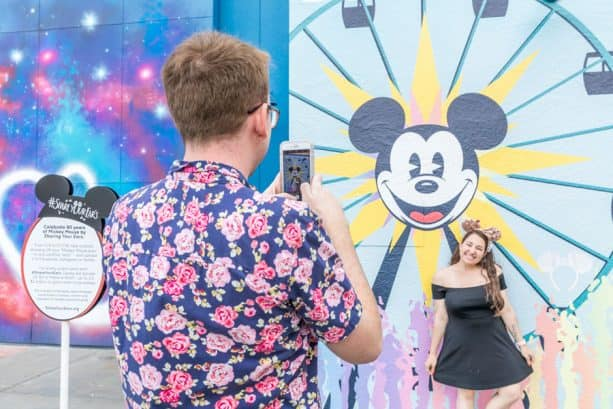 #ShareYourEars wall at Disney California Adventure park