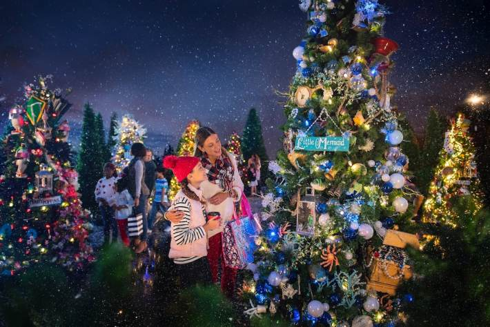 The Disney Springs Christmas Tree Trail: