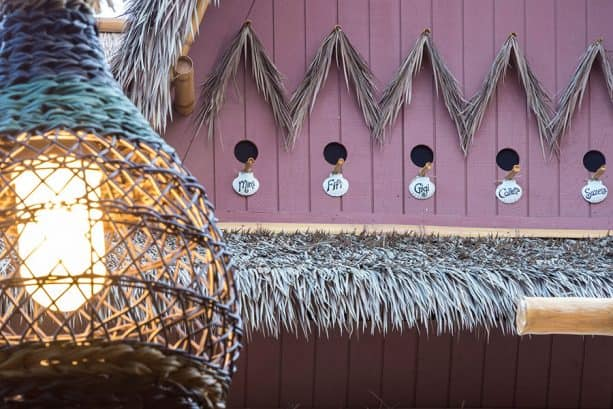Birdhouses atop The Tropical Hideaway, Disneyland park