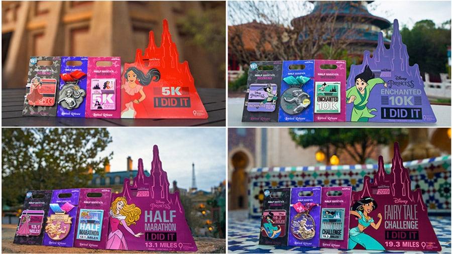 runDisney 2019 Disney Princess Half Marathon Weekend Limited-Edition Pins