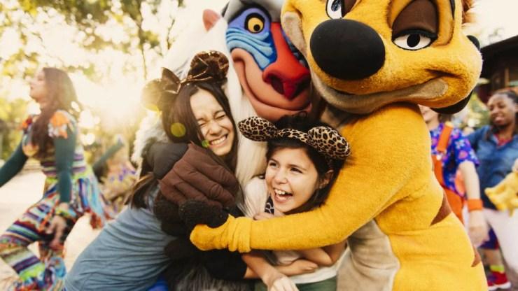 Timon and Rafiki Character Greetings at Circle of Flavors: Harambe at Night at Disney's Animal Kingdom