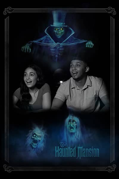 Haunted Mansion 8-inch by 10-inch lenticular image