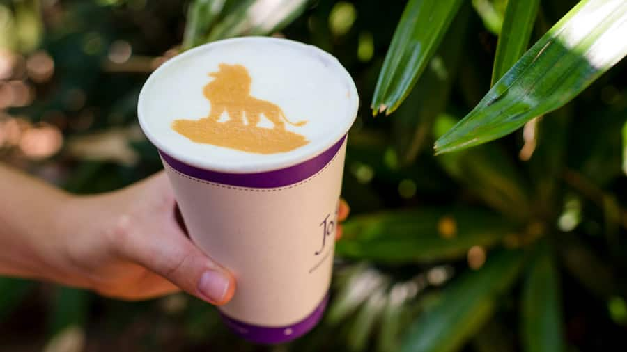 The Lion King Latte Art from Joffrey's Coffee & Tea Co. at Disney's Animal Kingdom Theme Park