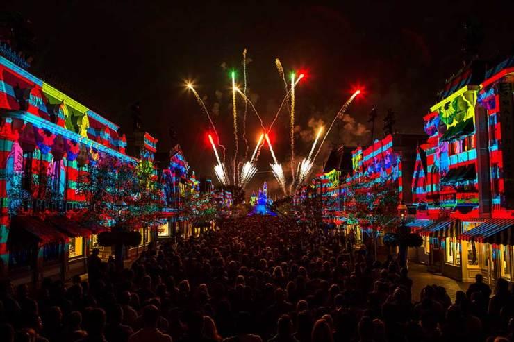 """Disneyland Forever"" fireworks, Disneyland park."