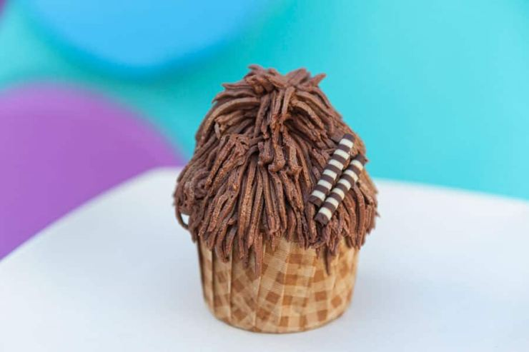 Chewbacca Chocolate-Hazelnut Cupcake from Disney's Pop Century Resort and Disney's Art of Animation Resort