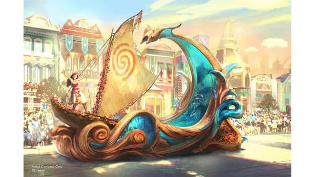Concept Art for Moana Float in Magic Happens - a brand new nighttime parade coming to the Disneyland Park