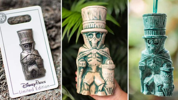 Hatbox Ghost Limited Edition Pin, Tiki Mug, and Ornament from Disney's Polynesian Village Resort at Walt Disney World Resort