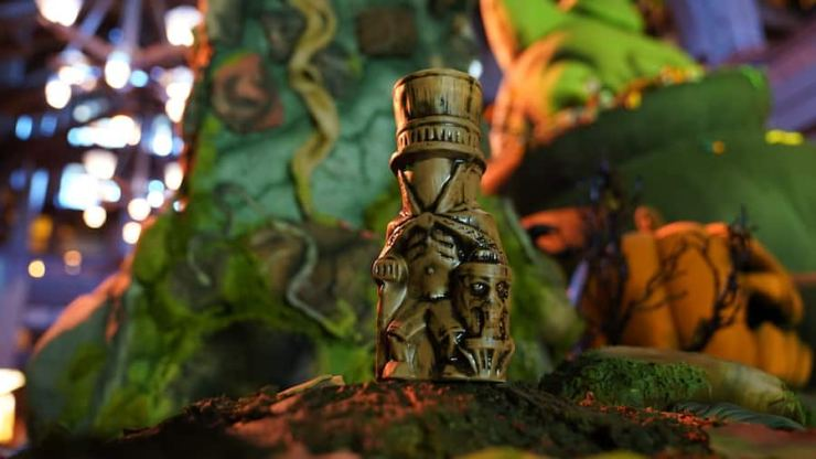 Hatbox Ghost Tiki Mug from Trader Sam's Enchanted Tiki Bar at the Disneyland Hotel