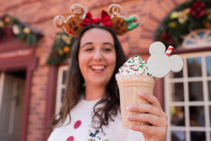 Christmas Cookie Milkshake from Auntie Gravity's Galactic Goodies for Mickey's Very Merry Christmas Party at Magic Kingdom Park