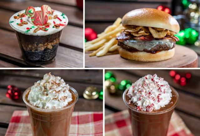 Collage of Galactic Grill Offerings for Holidays 2019 at Disneyland Park
