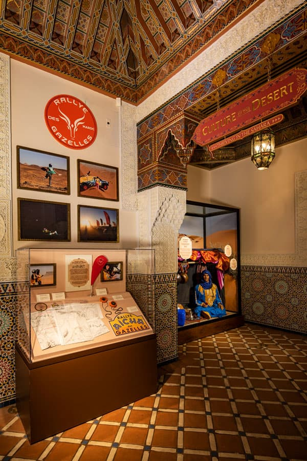 """""""Race Against the Sun: Ancient Technique to Modern Competition"""" exhibit in the Morocco pavilion at Epcot"""