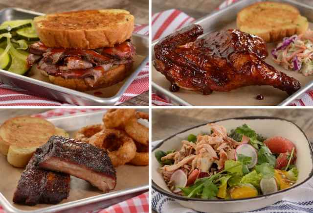 Entrees from Regal Eagle Smokehouse at Epcot