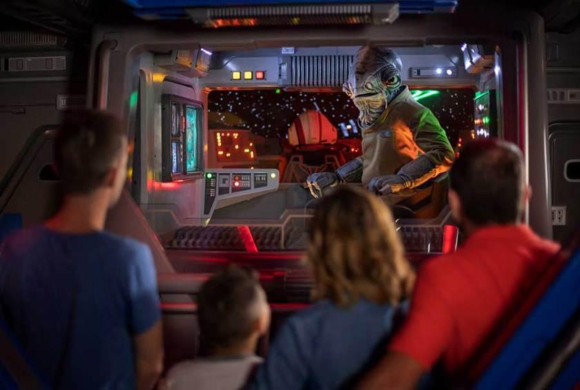 Vista interior de Star Wars: Rise of the Resistance, Disneyland Resort