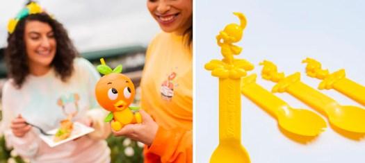 Orange Bird Sipper and Spike the Bee Spork for the 2020 Epcot International Flower & Garden Festival