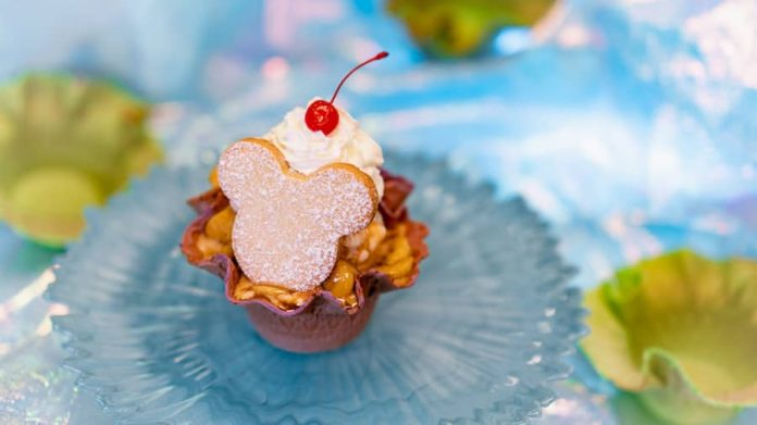 Dulce de Leche Sundae from Gibson Girl Ice Cream Parlor for 'Magic Happens' Parade at Disneyland Park