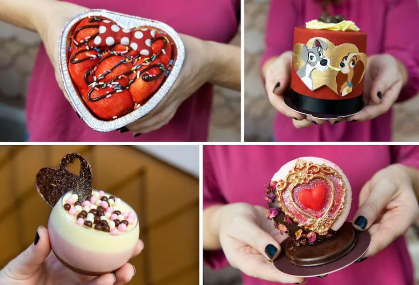 Ofrendas de San Valentín de la pastelería Amorettes en Disney Springs