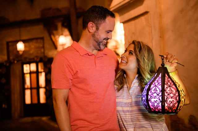 Valentine's Day photo option from Disney PhotoPass Service in Morocco pavilion at Epcot