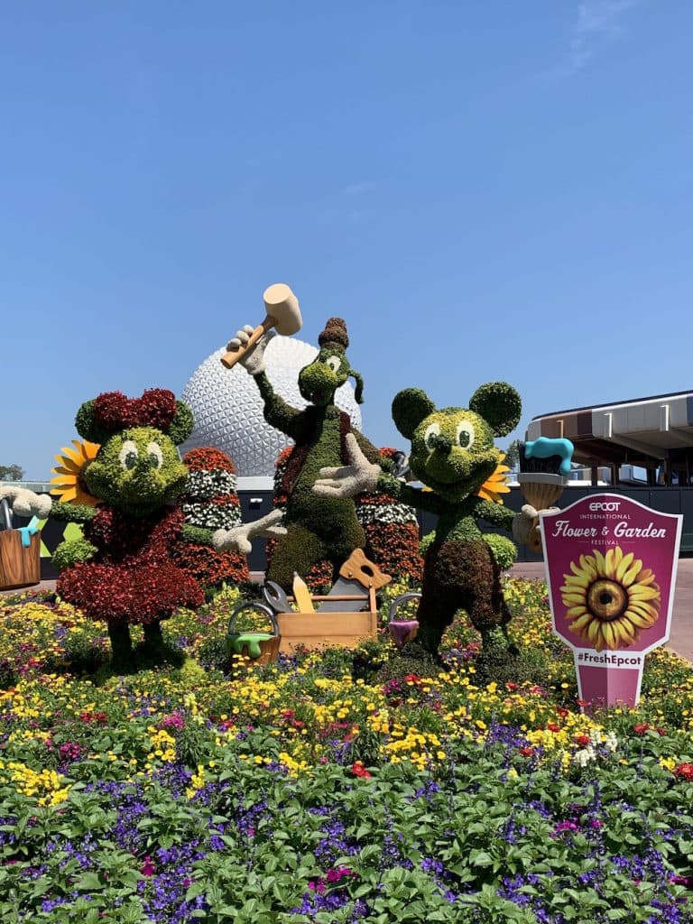 Character topiaries at Walt Disney World Resort