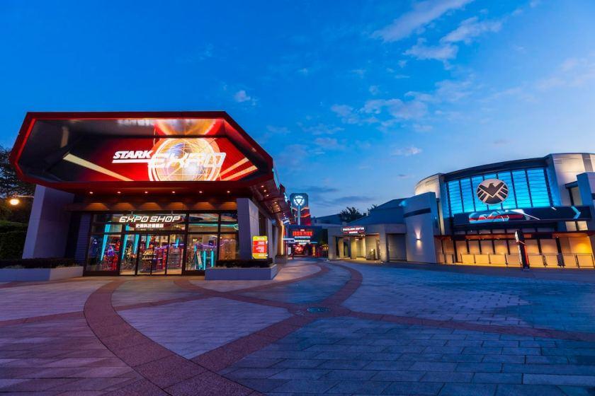 Stark Expo ubicada en Hong Kong Disneyland