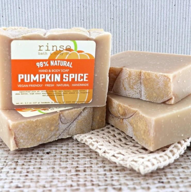Fall merchandise from Rinse Bath & Body Co.