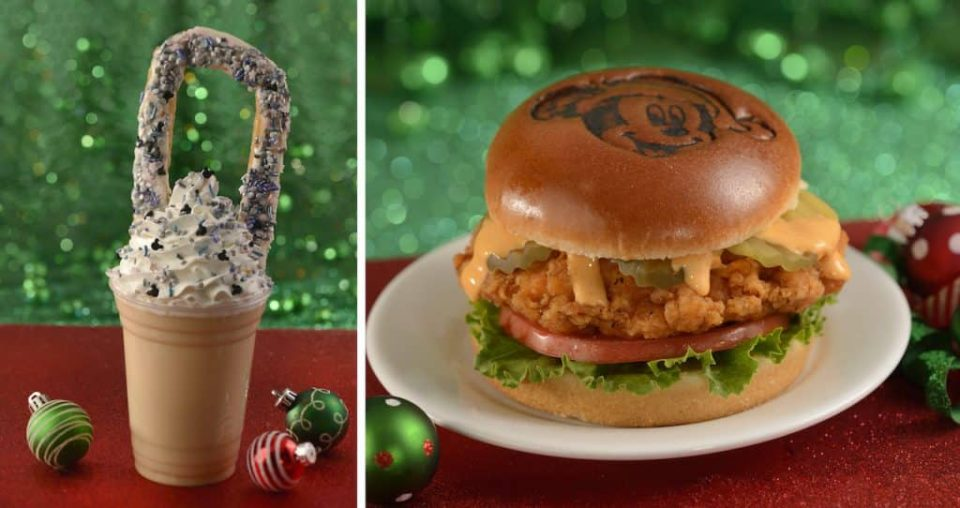 Just a Dream Away milkshake and Spice Up Your Holiday spicy chicken sandwich rom Magic Kingdom Park