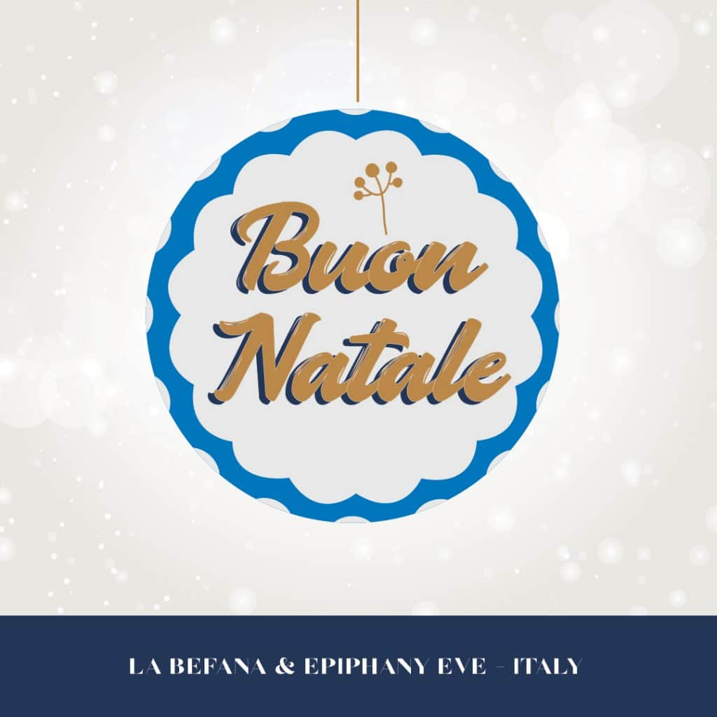 Happy holidays from Italy graphic