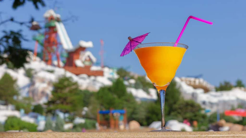 Fancy drink from Disney's Blizzard Beach Water Park