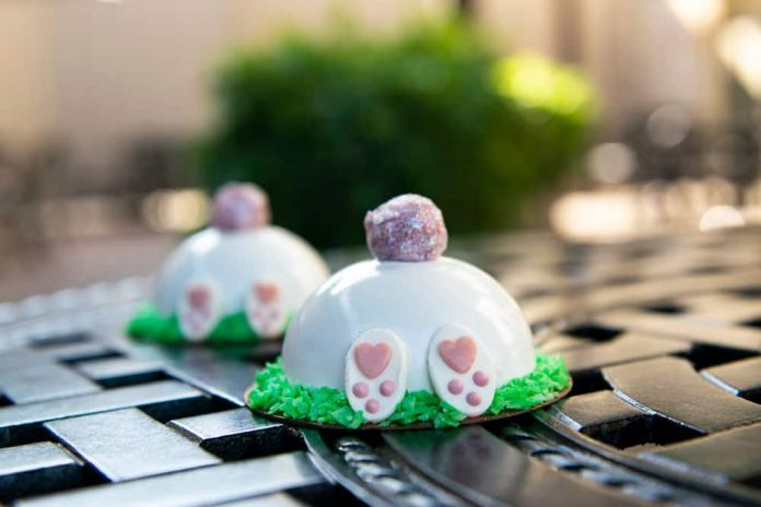 Bunny Mini Dome Cake available at Amorette's Patisserie, Disney Springs