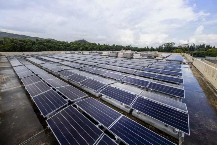 Solar panels at Hong Kong Disney Resort