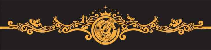 Filigree art featuring Captain Minnie for the new Disney Wish