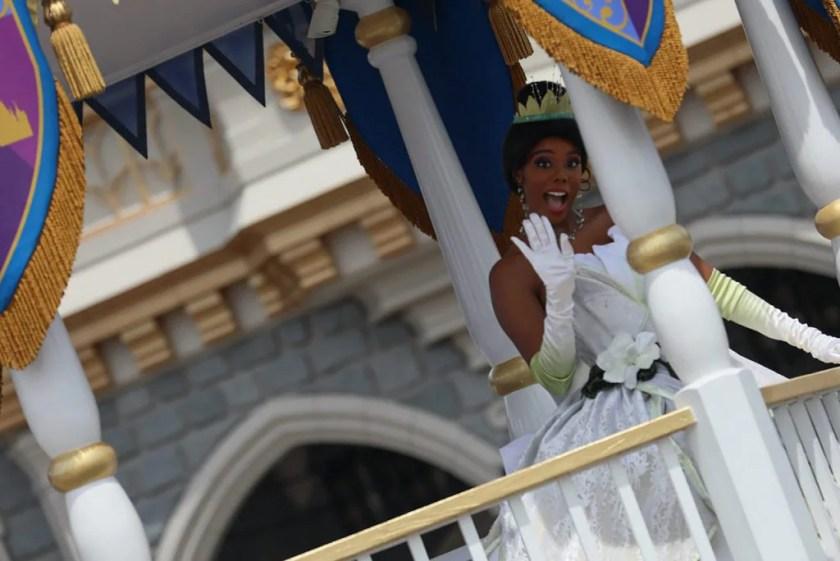 'La procesión de la princesa real' en el Parque Temático Magic Kingdom