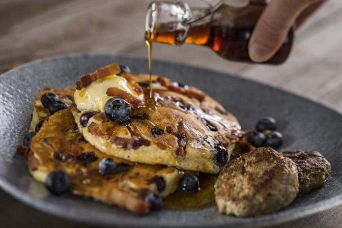 Blueberry pancakes from Ale & Compass Restaurant