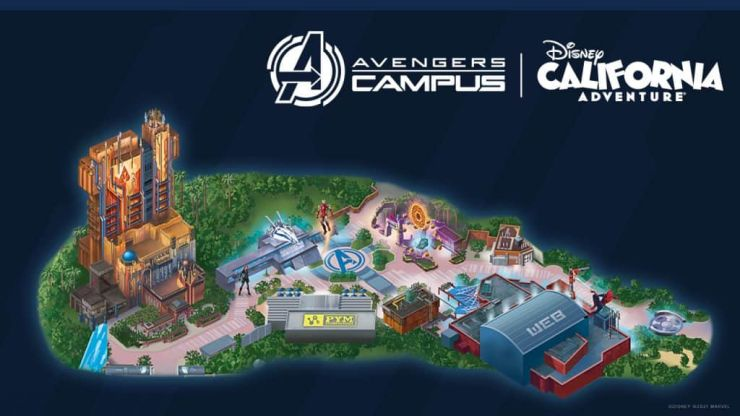Guide Map: Avengers Campus at Disney California Adventure park