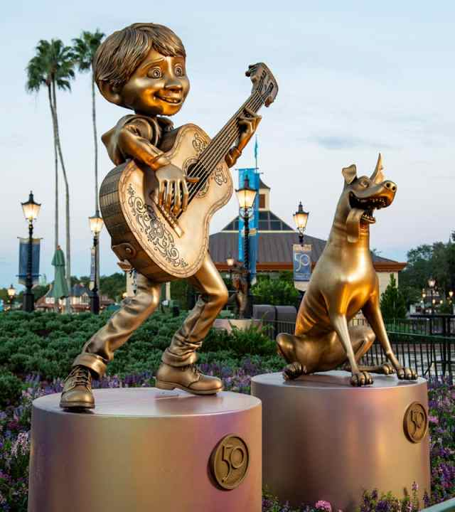 """Miguel and Dante at EPCOT are two of the """"Disney Fab 50 Character Collection"""" appearing in all four Walt Disney World Resort theme parks"""