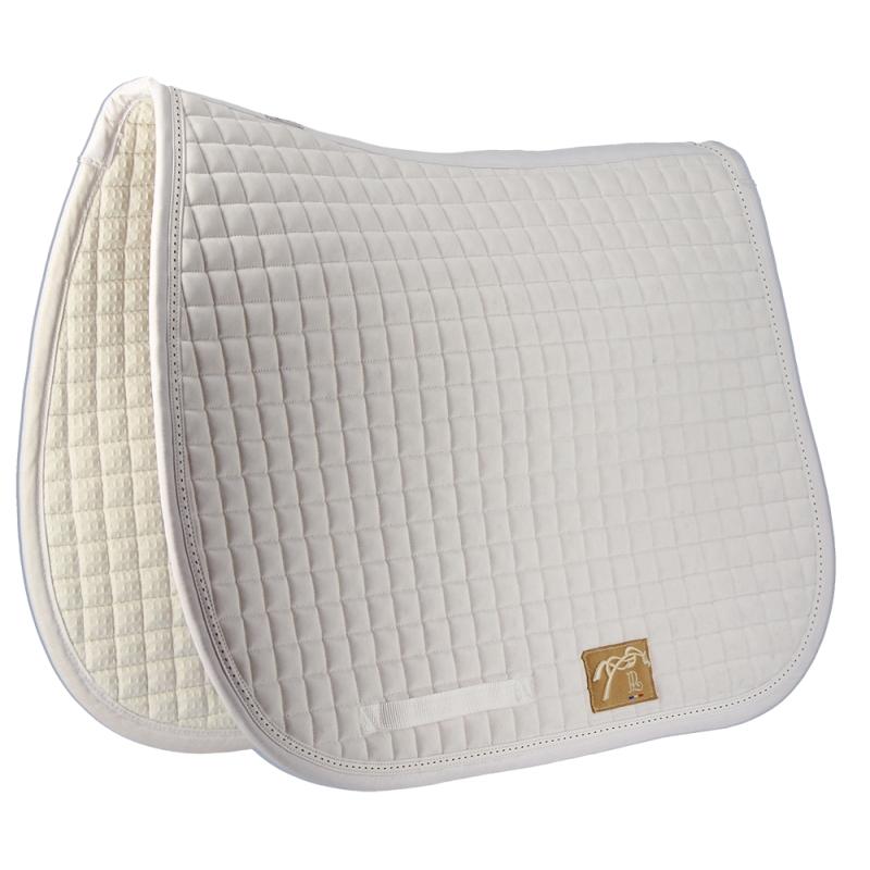 tapis de selle classique essentiels blanc