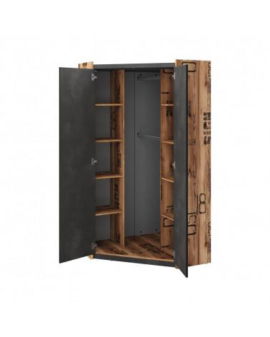 armoire d angle fargo pour chambre adolescent industrielle