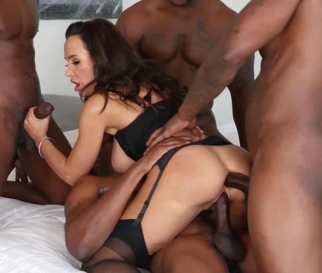 Interracial Gangbang With Double Penetration Makes Lisa Ann Happy